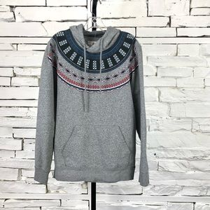 On The Byas Pull Over Hoodie Boho Aztec Gray 1713